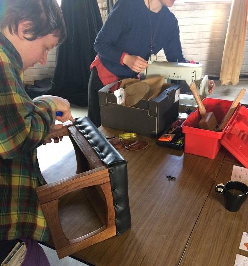 Repairing a stool