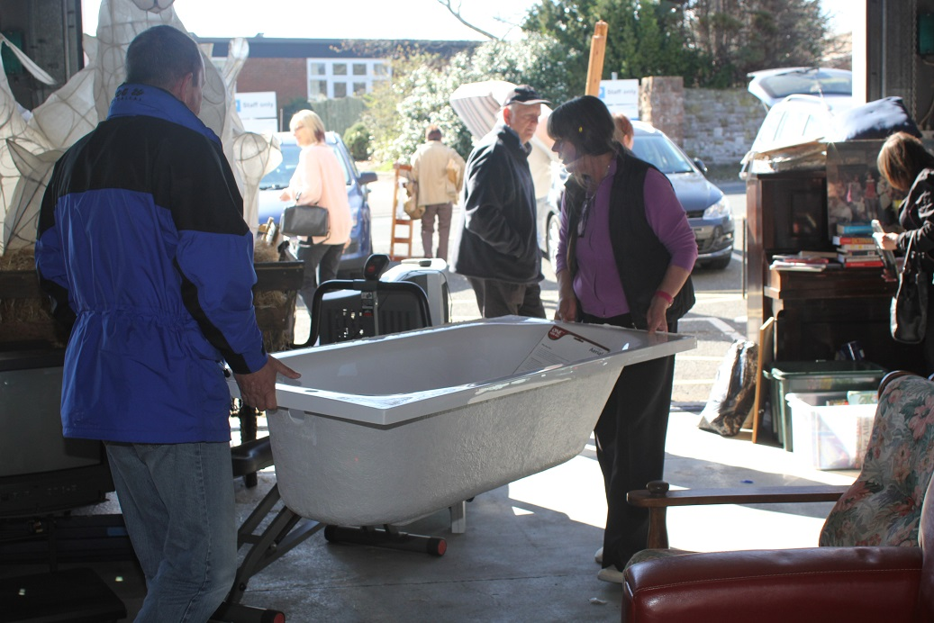 Free bath at the last Freegle Give and Take at the old fire station in Penrith