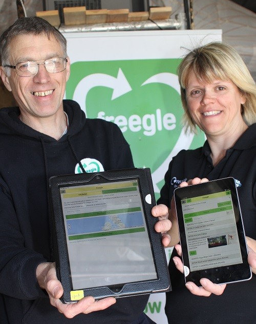 Chris and Judith launch the Freegle mobile app